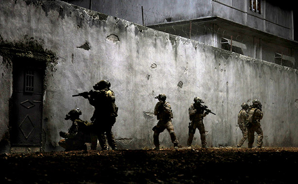 "As Hollywood depicted it -- an image from ""Zero Dark Thirty."""
