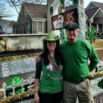 With Keely Saye, who was in charge of our float.