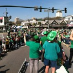 The view from the float as we pulled into Five Points.