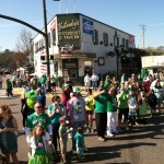 As our float arrived at the heart of Five Points itself.