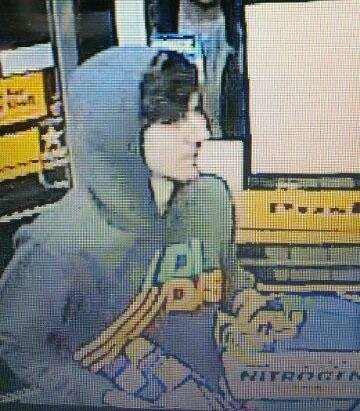 The one police identify as Dzhokhar A. Tsarnaev, at large.