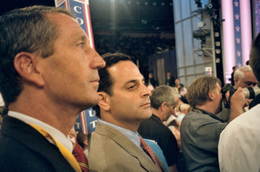 Mark Sanford on the last night of the 2004 Republican National Convention in New York.