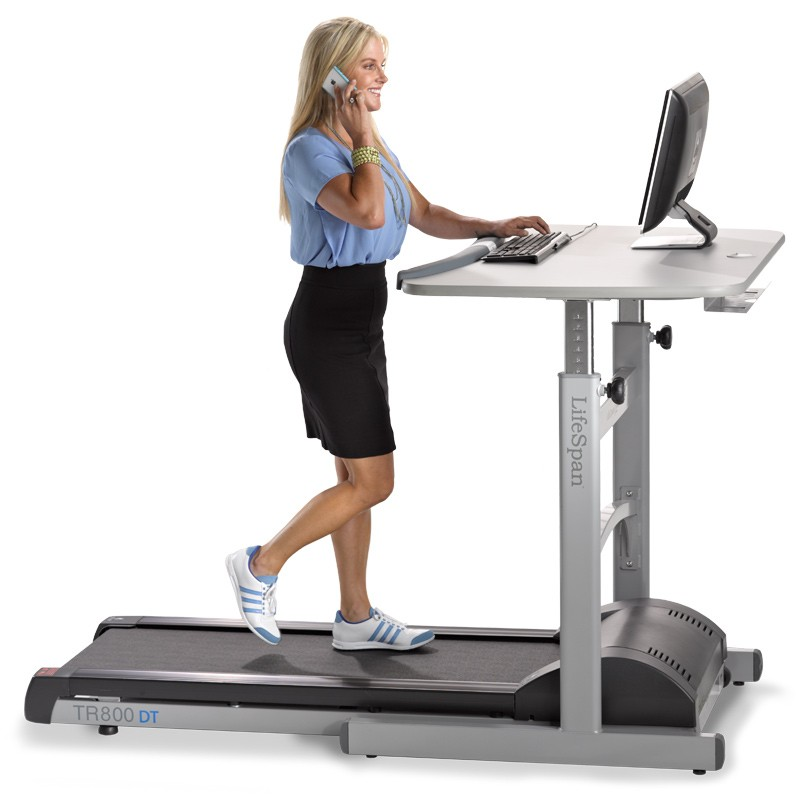 The actual TR800-DT5 Treadmill Desk from LifeSpan.