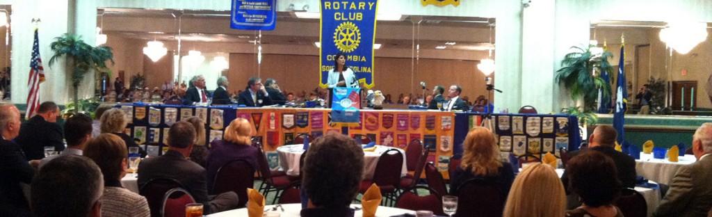 Gov. Nikki Haley, speaking to the Columbia Rotary Club last week.