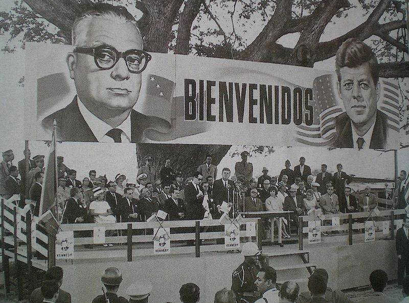 Alliance for Progress: John F. Kennedy and Rómulo Betancourt at La Morita, Venezuela, during an official meeting. (Dec 16th, 1961)