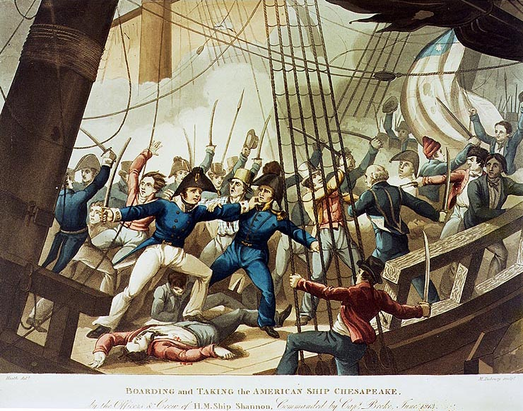 M_Dubourg,_Boarding_and_Taking_the_American_Ship_Chesapeake,_by_the_Officers_and_Crew_of_H.M._Ship_Shannon,_Commanded_by_Capt._Broke,_June_1813_(c._1813)