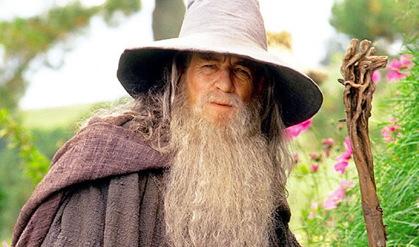 McKellen as Gandalf.