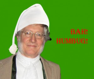 Silence kindly created this image of me as Scrooge to go with this post.