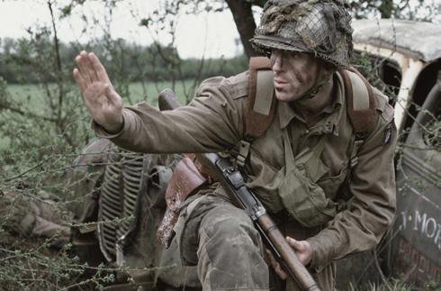 Lewis as Lt. Dick Winters.