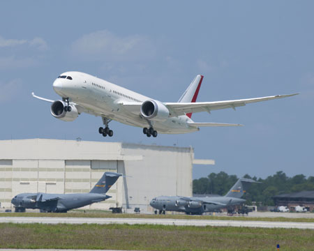 First 787 Takeoff In Charleston SC  K65673