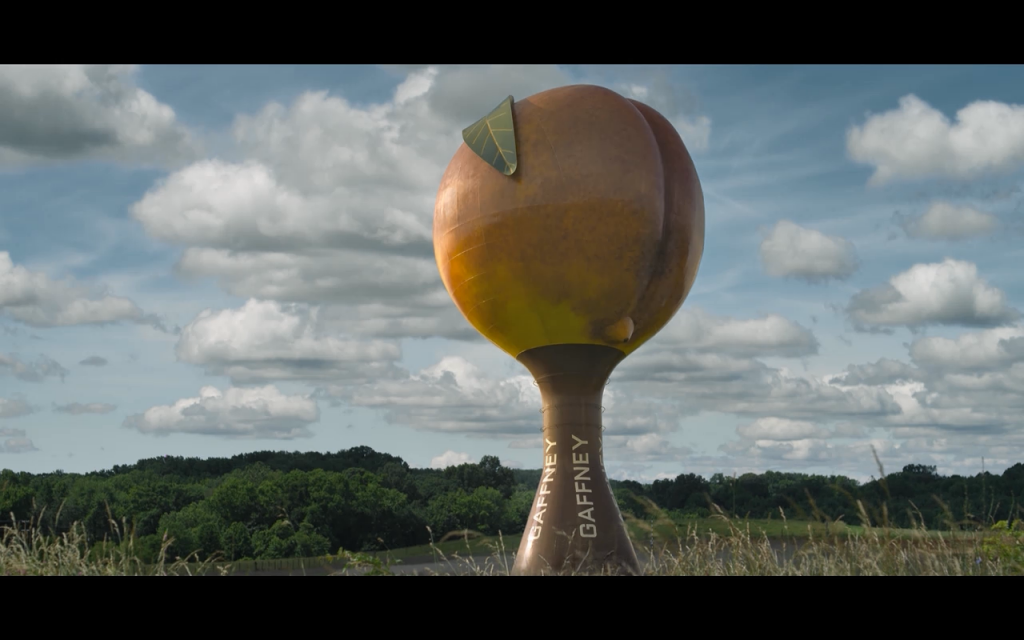The Peachoid in better days.