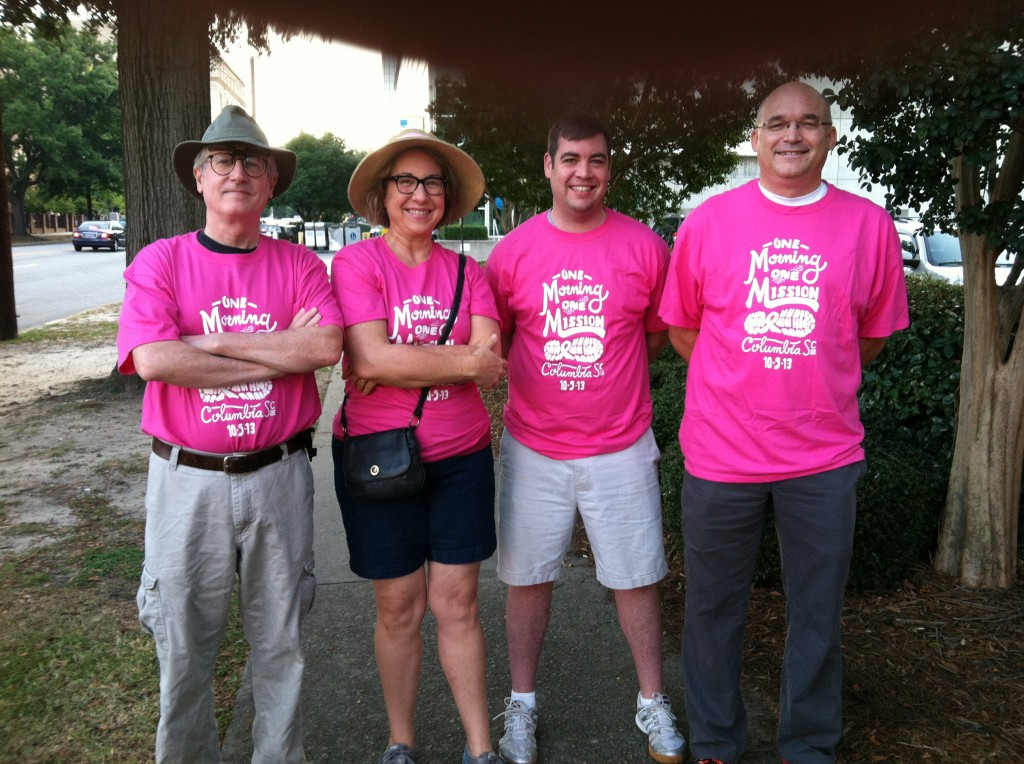 Our team's actual walkers last year: yours truly, Kathryn Fenner, Bryan Caskey and Doug Ross.