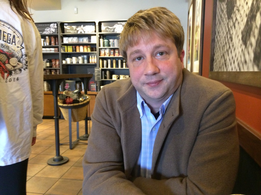 Tige Watts at the Five Points Starbucks, Friday, Jan. 30, 2015.