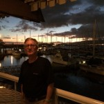 At Schooner's restaurant, on Pearl Harbor.