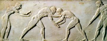 If the ancient Greeks had allowed their athletes to be paid, maybe they could have afforded some clothes.