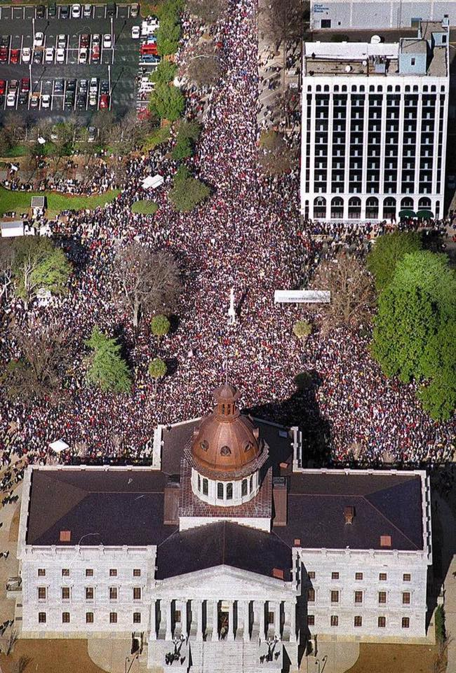 King Day at the Dome, 2000 -- the largest demonstration against the flag ever