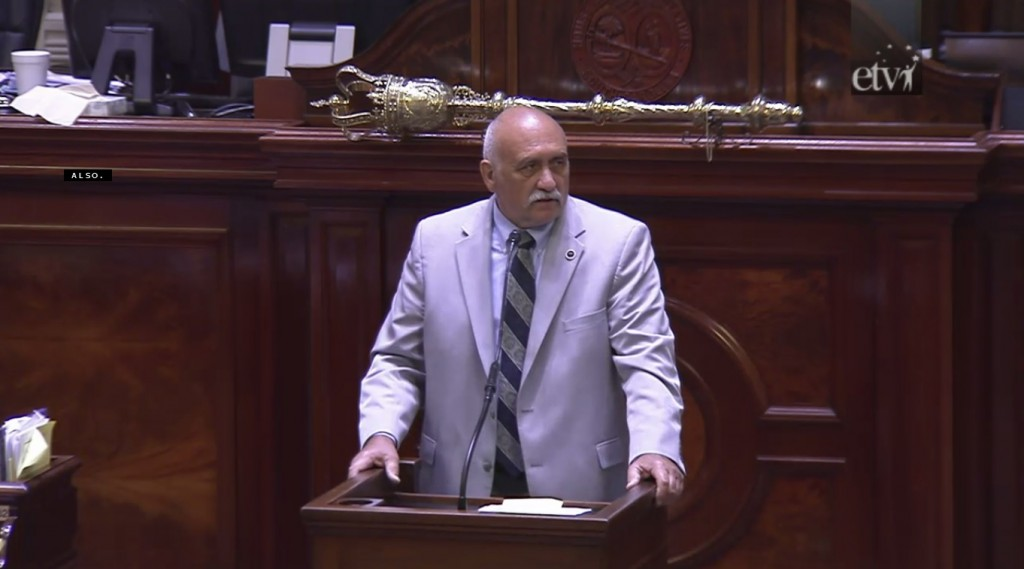 Rep. Mike Pitts, speaking in the House this afternoon.