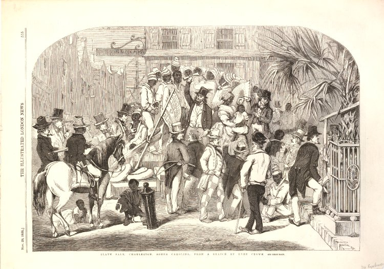 Slave sale in Charleston, 1856
