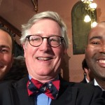 People were kind of giddy. Here's my selfie with the state party chairs, Republican Matt Moore and Democrat Jaime Harrison.