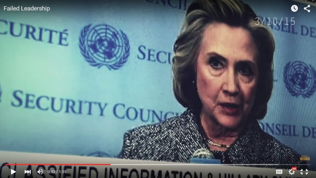 Hillary screengrab