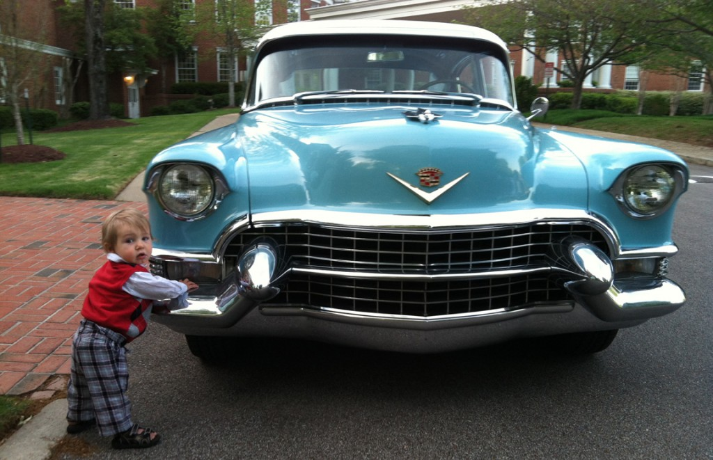 SOME young guys still love cars: This is my grandson two years ago, when he was just learning to stand.