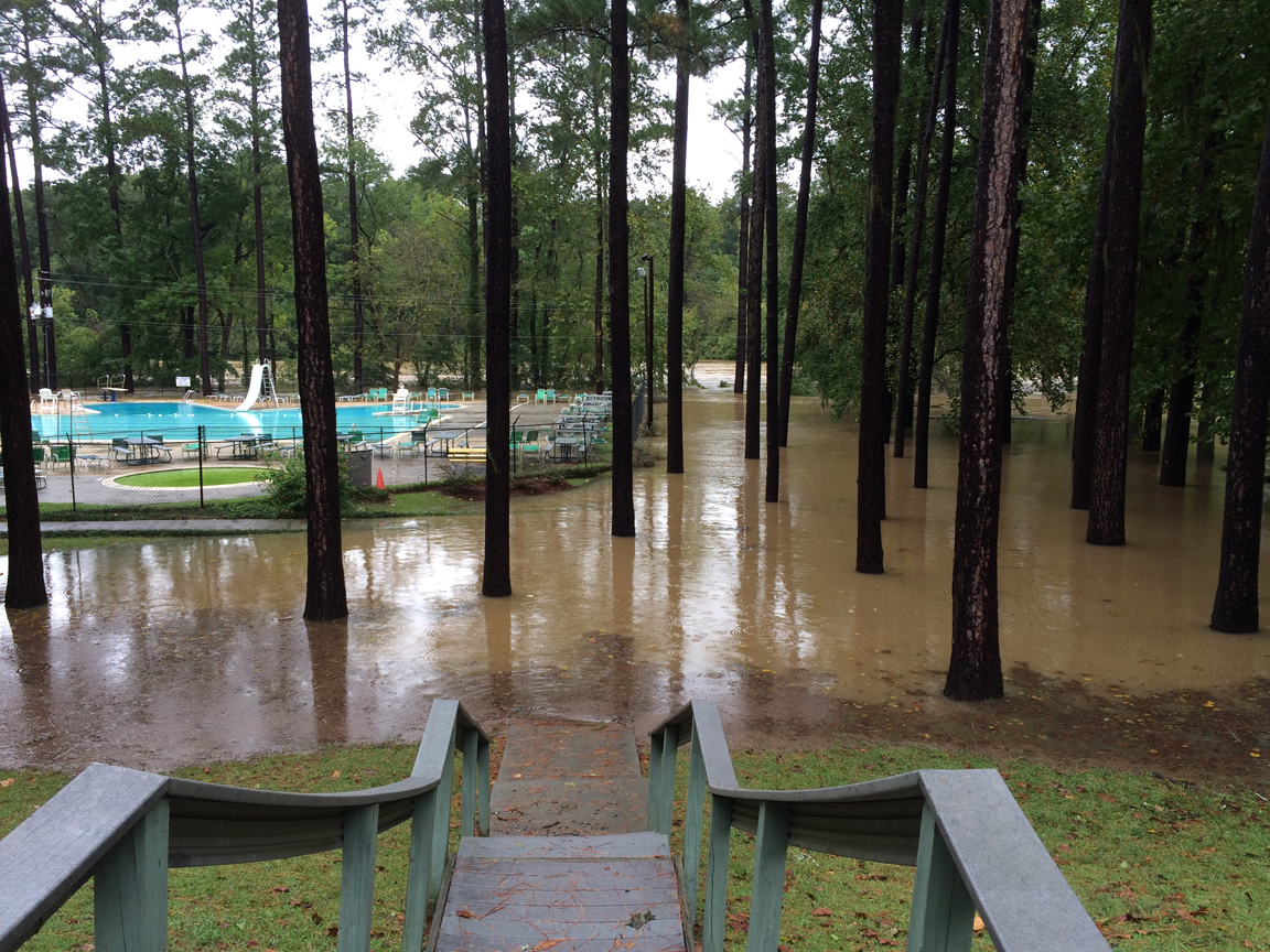 The Quail Hollow pool, which is right next to the Saluda River, at 5:18 p.m.