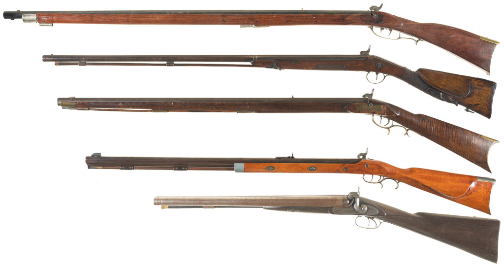 The assault weapons of the time when the 2nd Amendment was adopted. If you were really good, you might have been able to fire one round a minute.