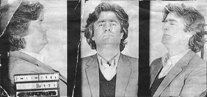 "Radovan Karadzic when he was arrested for ""industrial crimes"" in November 1984."