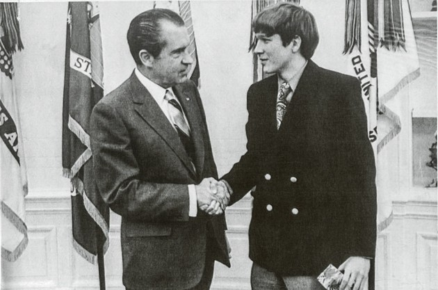 The young Kasich meets Richard Nixon...