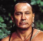 Russell Means as Chingachgook