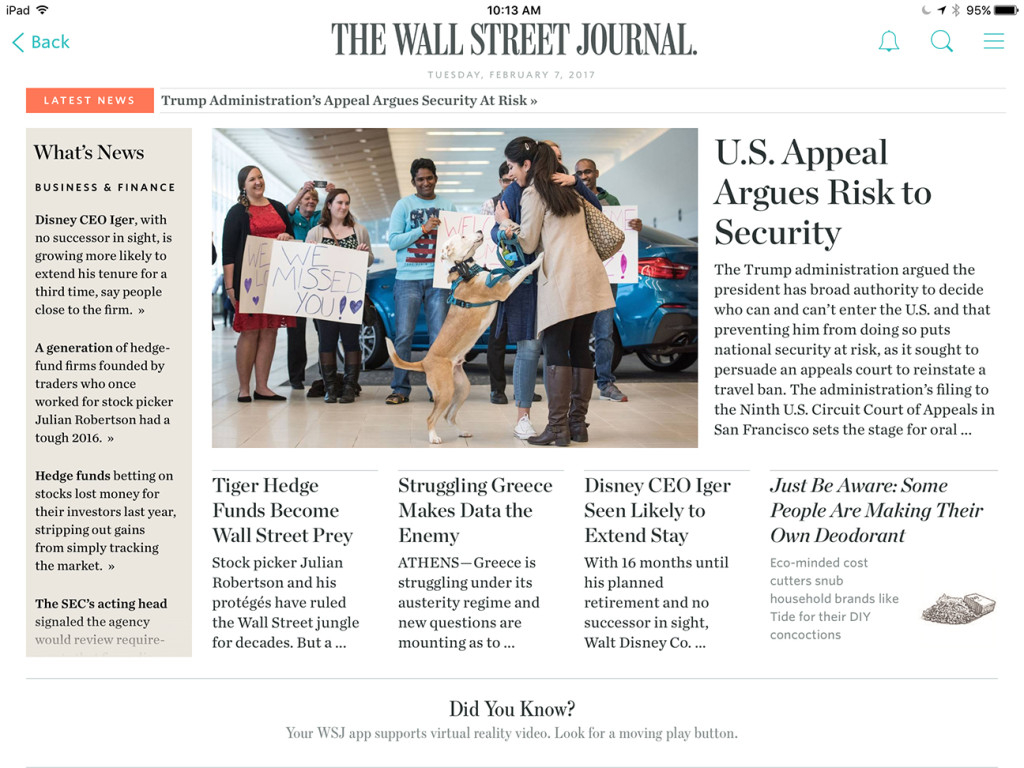 WSJ front
