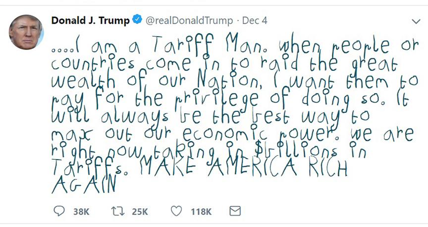 tariff man